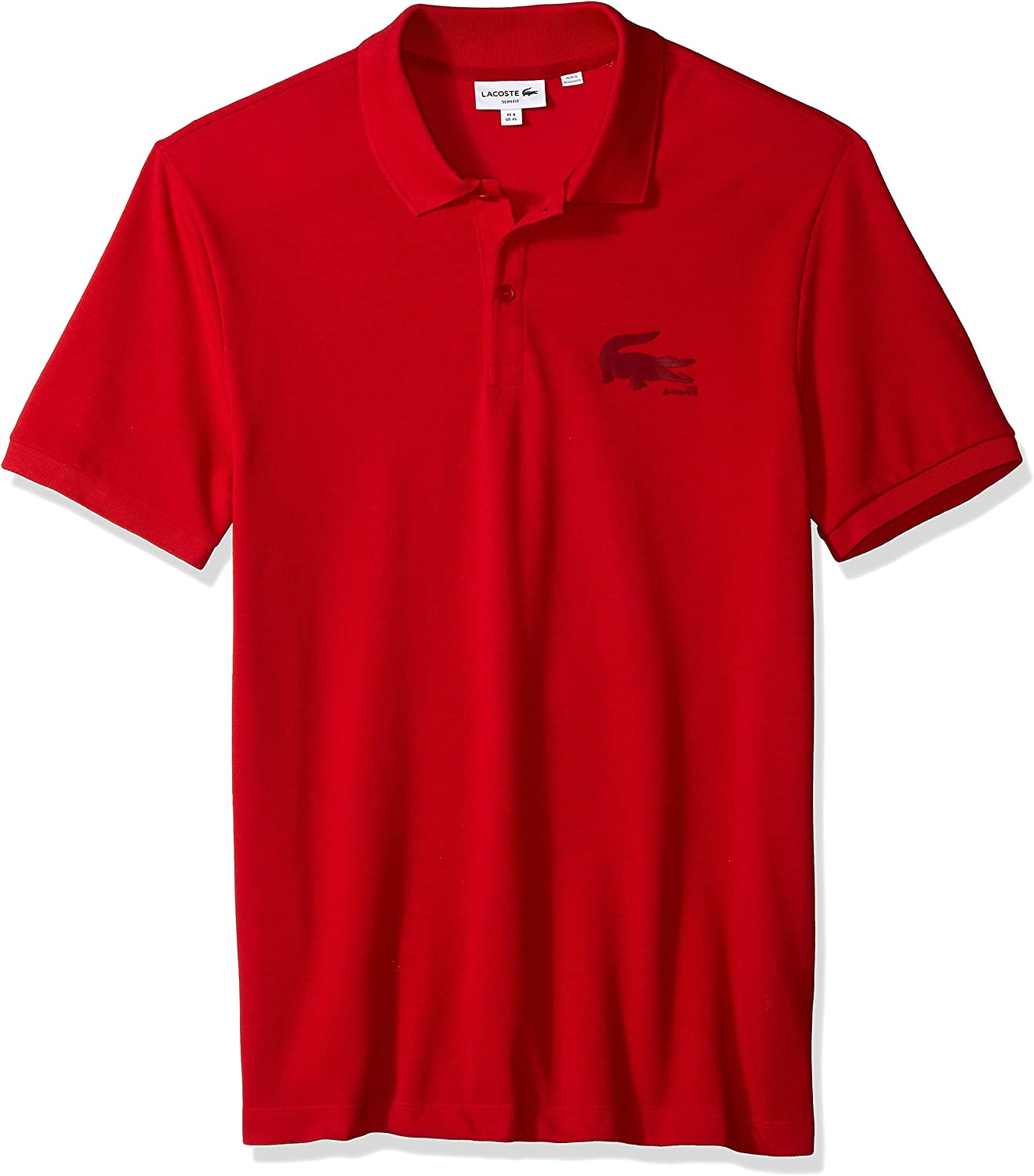Lacoste Mens Short Sleeve Graphic Bonded Croc Jersey Slim Polo PH7721