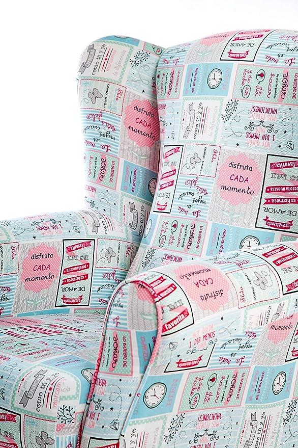 SuenosZzz- Sillón Butaca orejero (Sillon Lactancia) Sillon tapizado Mr Happy Sillon de hogar tapizado