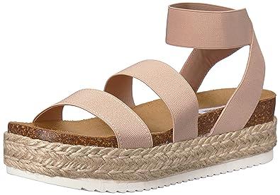 96a0739e5b3 Steve Madden Women s Kimmie Wedge Sandal Blush 5 B(M) US  Buy Online ...