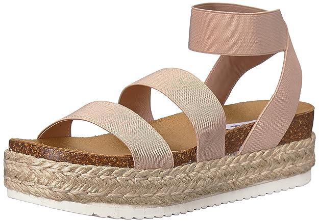 Steve Madden Women's Kimmie Wedge Sandal, Blush, 5 M US