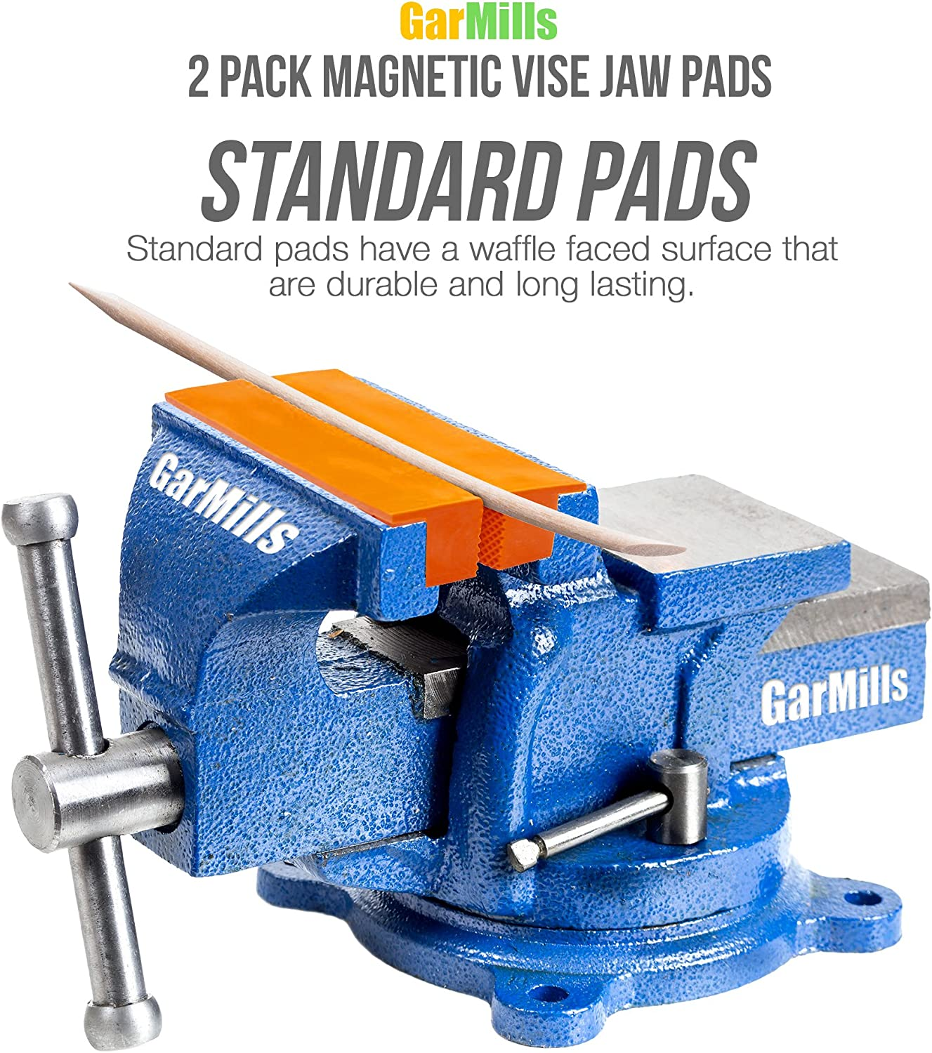 Vise Jaws // Vise Pads Magnetic Multi-Groove Soft Jaws - 4.5 Inch Length TPU