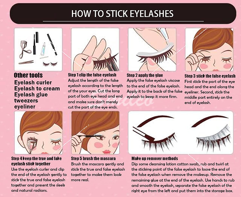 Amazon Com Smilco Mink Lashes 3d Siberian Mink False Eyelashes
