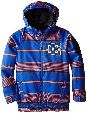634956913 DC Apparel Big Boys' Troop Snow Jacket, Tank Stripe Shocking Orange, ...