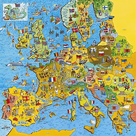 Amazon.com: 200 Piece Map Of Europe Jigsaw: Toys & Games