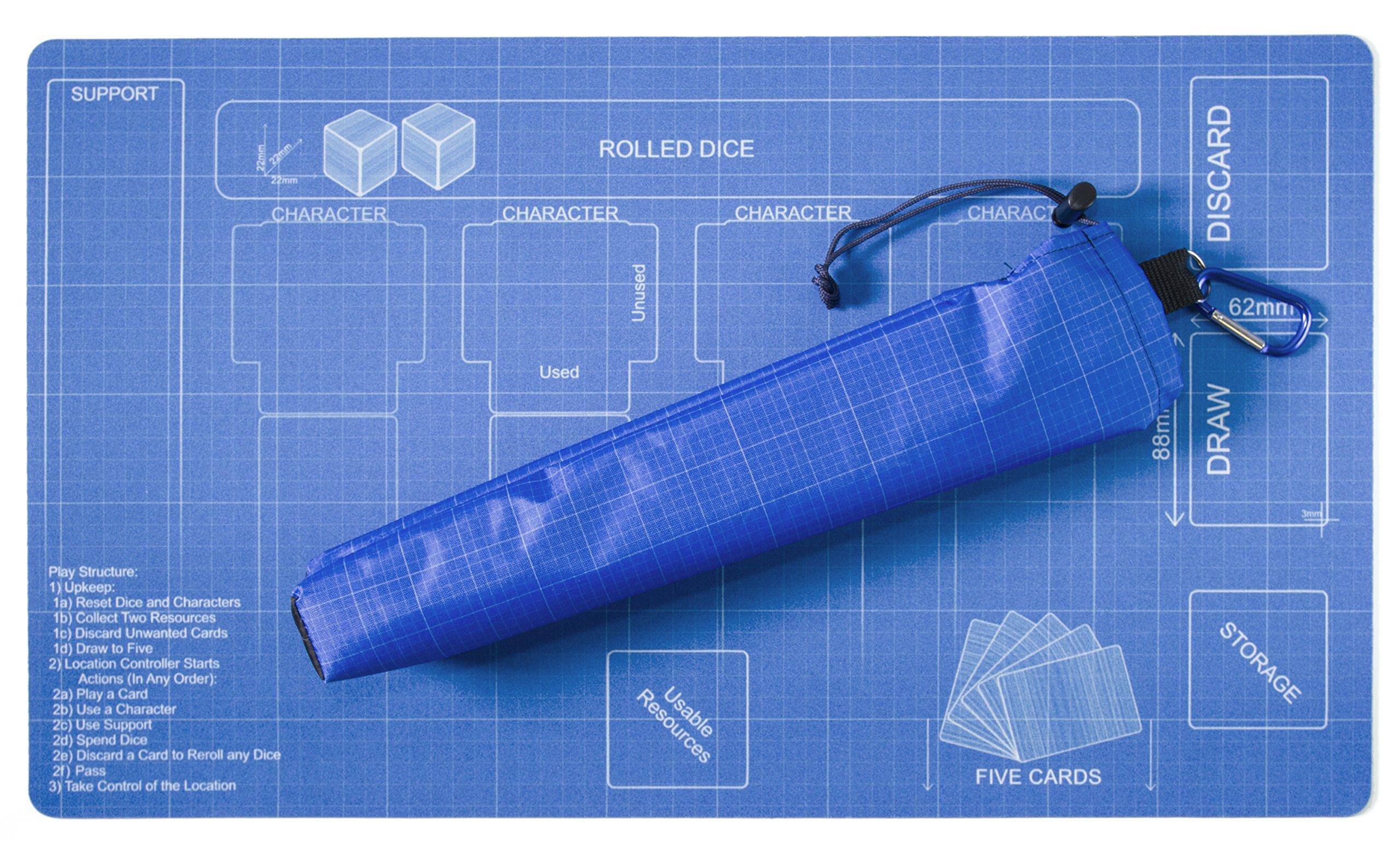 Blueprint Destiny Playmat Playmat Bag - Kit by Inked Gaming / Perfect for SW: Destiny Playmat Tube Plus Playmat