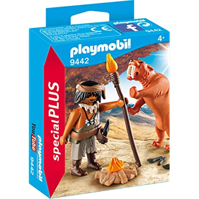 Playmobil 9442 Caveman with Sabertooth Tiger: Toys & Games