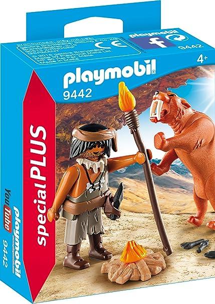 Playmobil Neandertal con Tigre Dientes de Sable Juguete geobra Brandstätter 9442