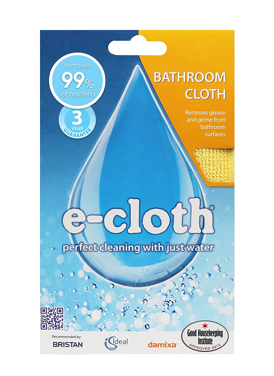 E-cloth BC Bathroom Cloth, Yellow EnviroProducts Ltd