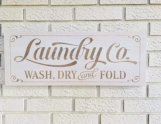 Monsety Laundry & Co - Cartel de Madera rústica para ...