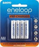 Sanyo Eneloop AAA NiMH Pre-Charged Rechargeable Batteries 4 Pack (Discontinued by Manufacturer)