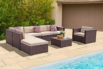 Amazon.com: PATIORAMA Juego de muebles de exterior para ...
