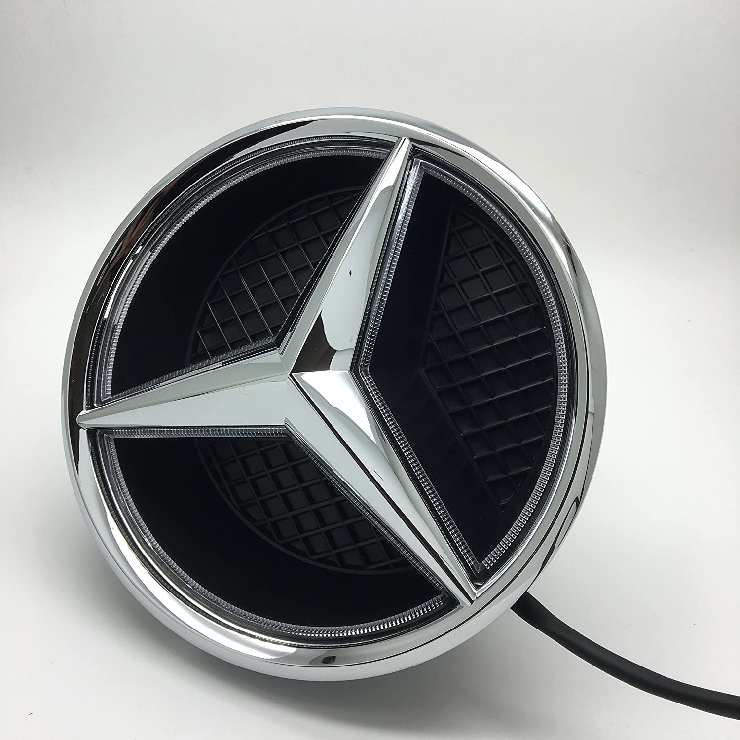 Cszlove Car Front Grilled Star Emblem Led Illuminated Mercedes Cl 500 Fuse Diagram Logo Center Badge Lamp Light For Benz 2015 2017 Glc Gle Gls White