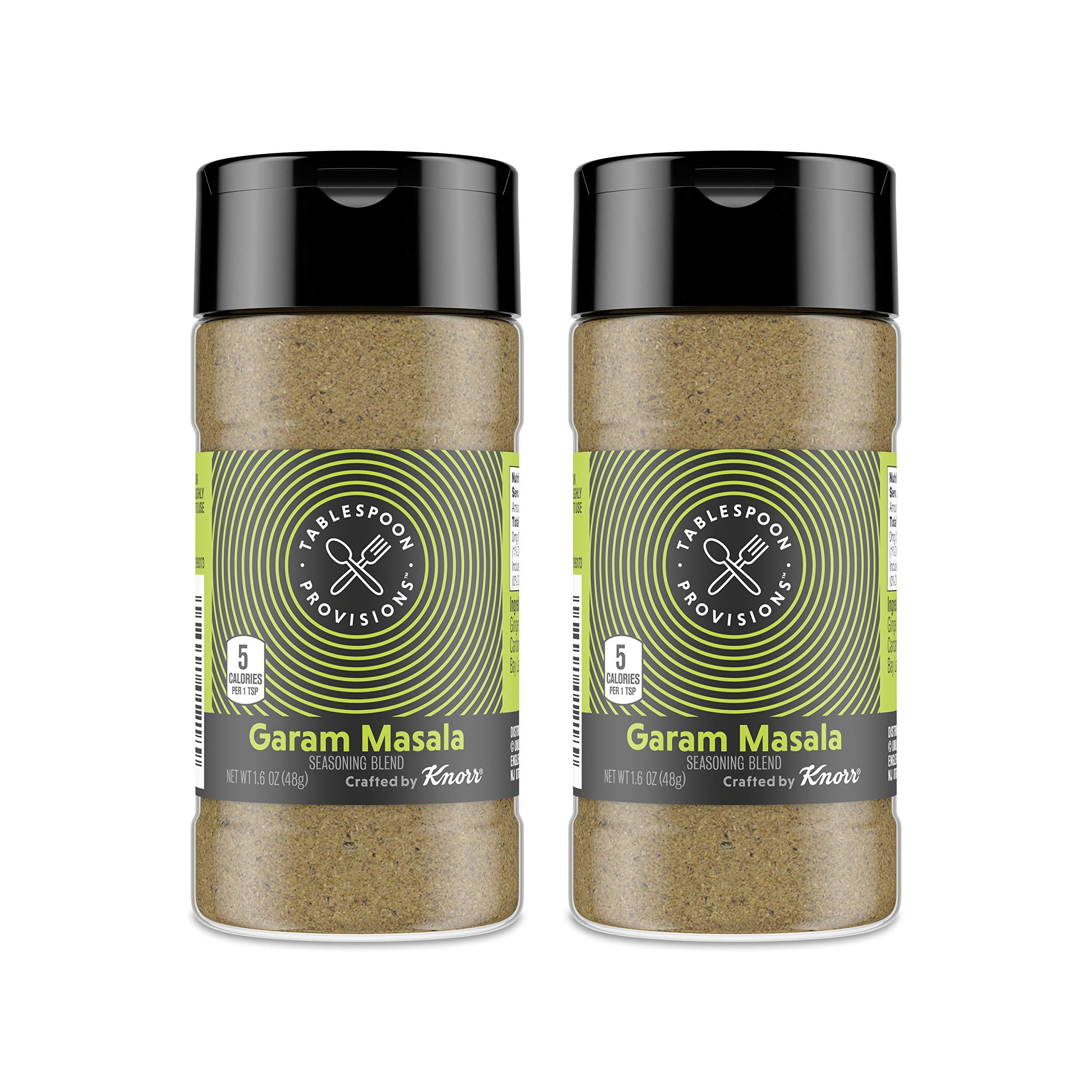 Tablespoon Provisions Garam Masala Seasoning, 3.2 oz (2 units, 1.6 oz each) - No Added Salt, No Artificial Preservatives, No Added MSG
