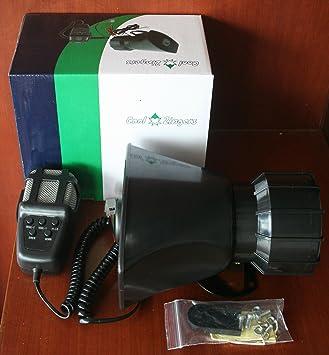 Cool Zingers 100W Sirena Bocina Coche Policía 5 Tonos Sonidos Emergencia Vehículo Sistema de Altavoz Micrófono12v: Amazon.es: Electrónica