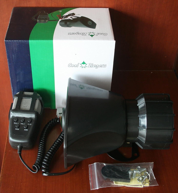 Cool Zingers 100 Watt Police Siren 5 Sound Emergency Vehicle Warning Speaker PA System Microphone 12v 100W CZ-100