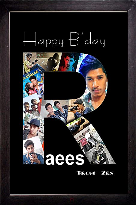 Buy Personalized Happy Birthday Alphabets Photo Collage Any