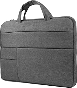 Multi Functional Notebook Carrying Sleeve for HP ChromeBook x360, Elitebook x360, ProBook 450 G6, Dark Grey
