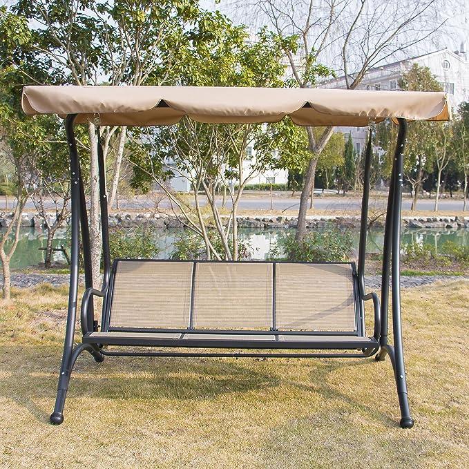 Verano promotionainfox 3 Persona Porche Columpios al Aire Libre toldo Silla Patio jardín Playa Muebles de jardín: Amazon.es: Jardín