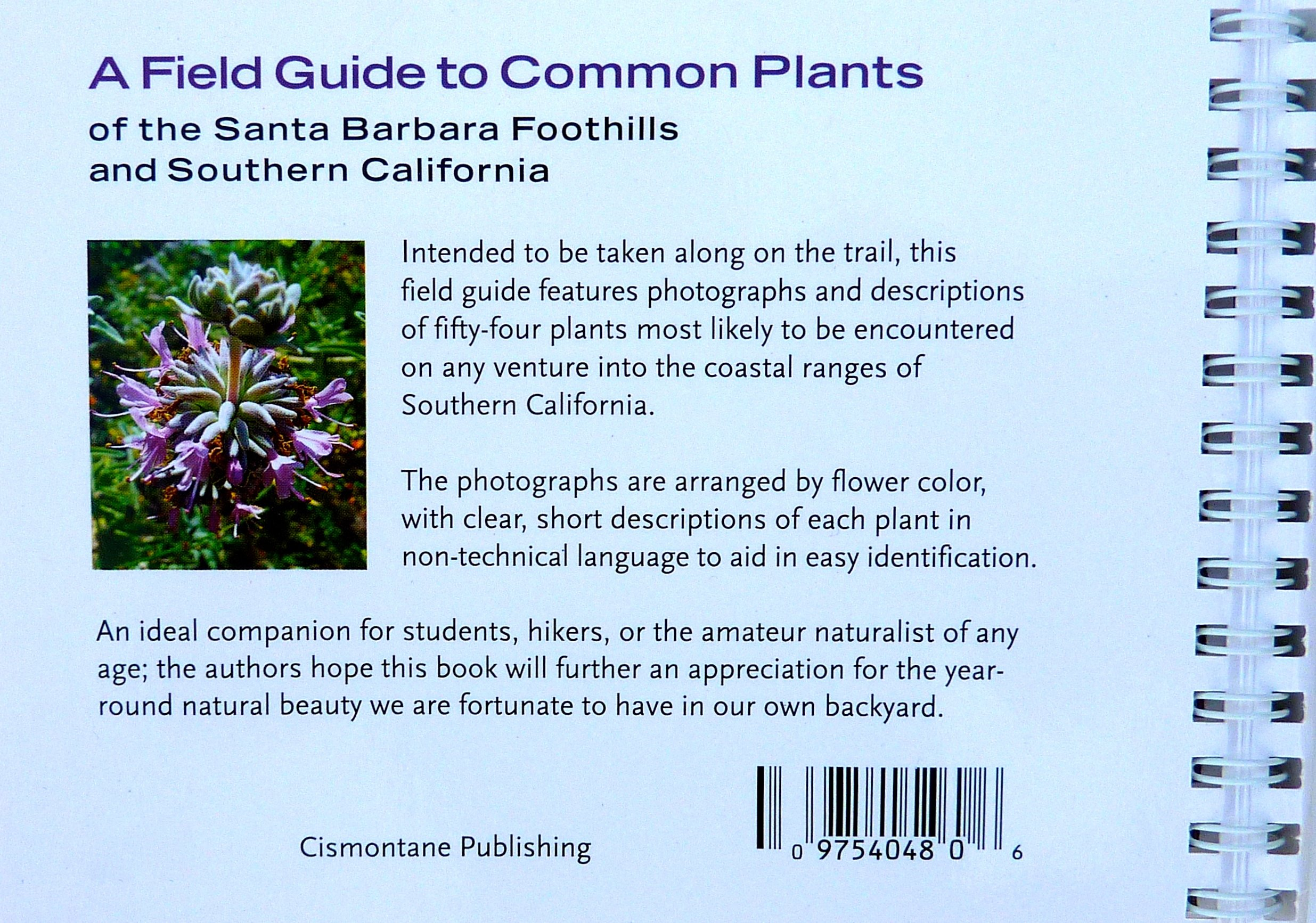 field guide to common plants of the santa barbara foothills and