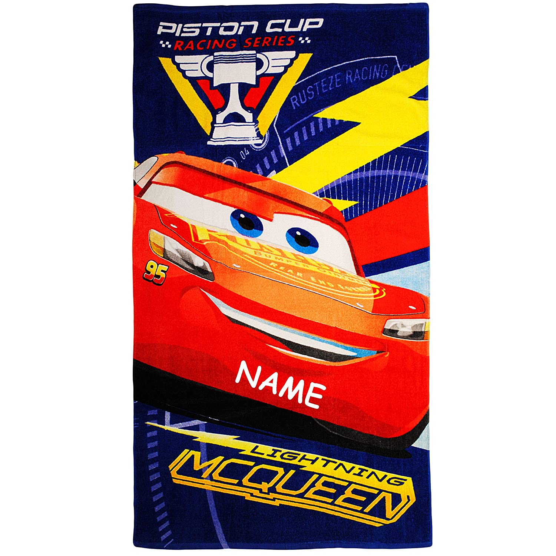 70x140 f.. alles-meine.de GmbH Badetuch // Strandtuch Cars Lightning McQueen Jungen Baumwolle 100 /% Handtuch inkl 70 cm * 140 cm Name Disney Frottee // Velours