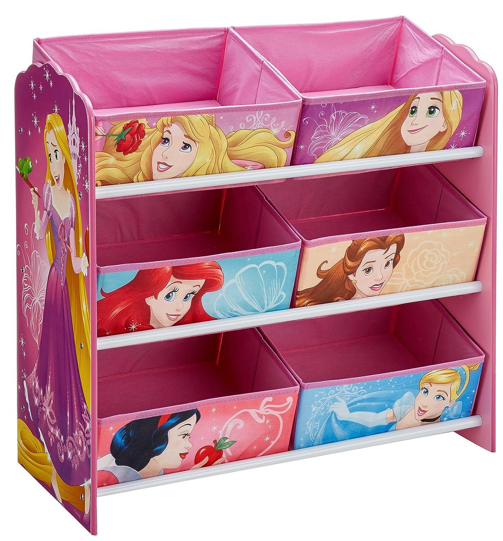 Disney Princess Kids Bedroom Storage Unit with 6 Bins by HelloHome Worlds Apart 471DIY