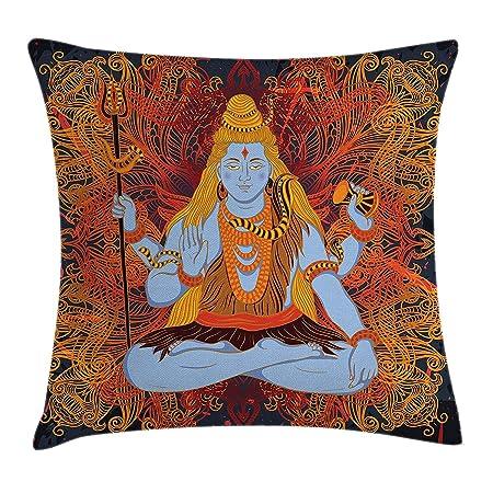K0k2t0 Yoga Throw Pillow Cushion Cover, Retro Graphic Design ...