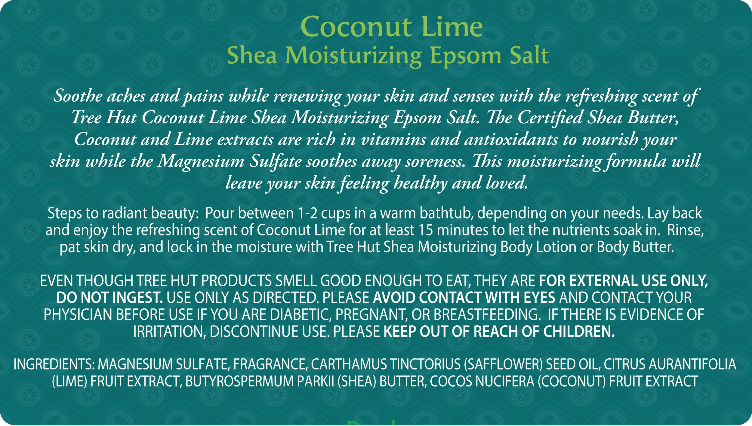 Tree Hut Shea Moisturizing Epsom Salt Coconut Lime, 3Ibs, Ultra Hydrating Epsom for Nourishing Essential Body Care by Tree Hut (Image #3)
