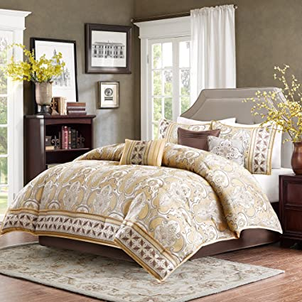 4c8911e1538b Image Unavailable. Image not available for. Color: Madison Park Chapman 7  Piece Comforter Set Gold Queen