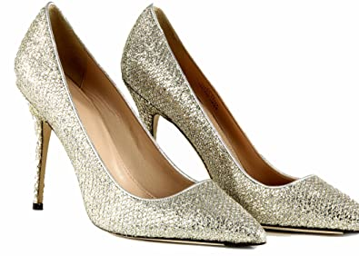 Amazon.com | J Crew Roxie Glitter Pumps Size 7 Style E0784 Gold ...