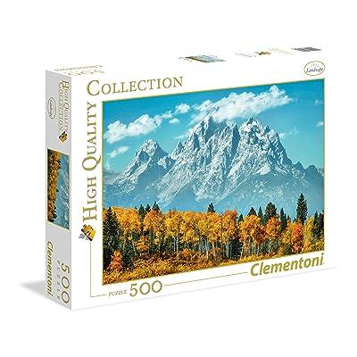 Clementoni 35034.6 Clementoni-35034 Collection-Grand Teton in Fall-500 Pieces, Multi-Colour: Toys & Games