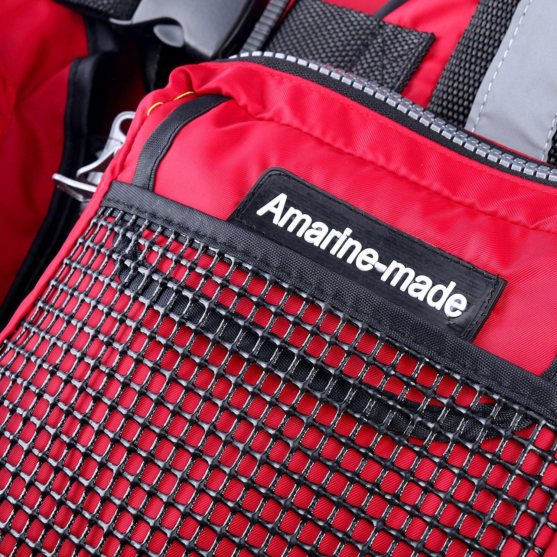 Amarine-made ライトフロートゲームベスト フローティングベスト レッド フリー