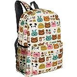 e507fdae45 16-Inch Forest Animal Pattern Elementary Kids School Canvas Backpack -  MGgear