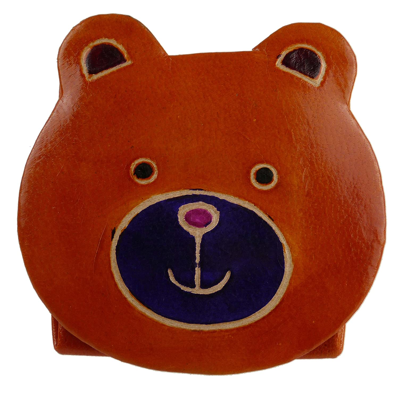 ENFANTS enfants filles mignon Cuir Ours en peluche Porte-monnaie fabriqué à la main cadeau jouet Orange bordeaux