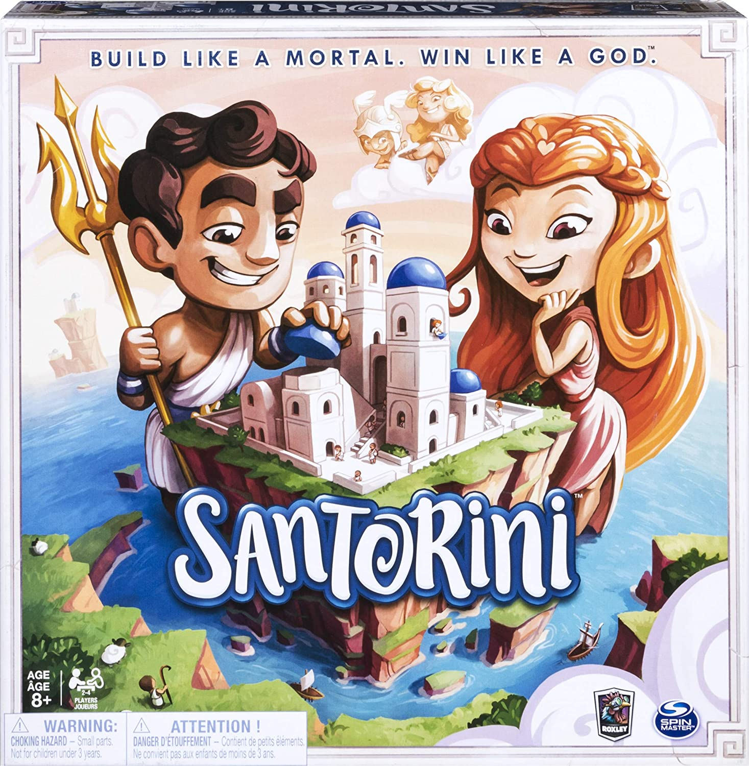 Amazon Com Spin Master Games Santorini Strategy Based Family Board Game For Kids Adults Ages 8 Up To 6 Players Toys Games