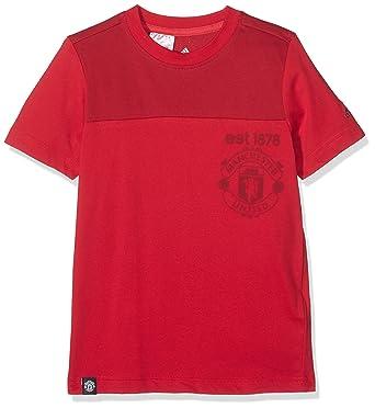 040e9dcaa76eb adidas Boys T-Shirts Football Manchester United FC Red Kids Tee Training  AY6819 (140