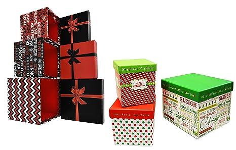 Buy Alef Set Of 6 Elegant Decorative Holiday Themed Nesting Gift