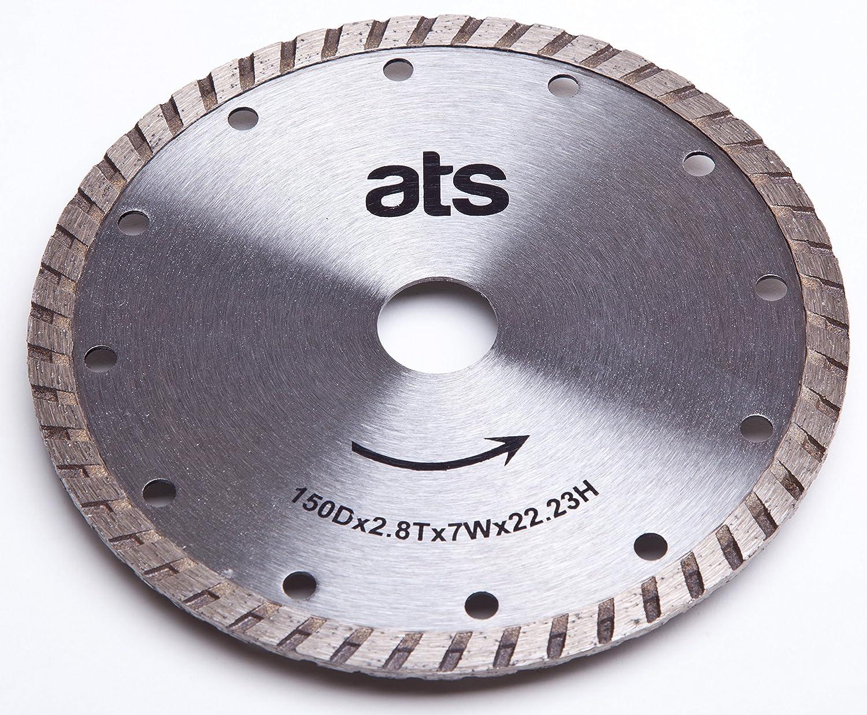 ATS 150mm x 22.23/20mm Turbo Diamond Blade Bushboard M Stone Max-Top Quartz Festool TS55 ATS Diamond Tools Ltd