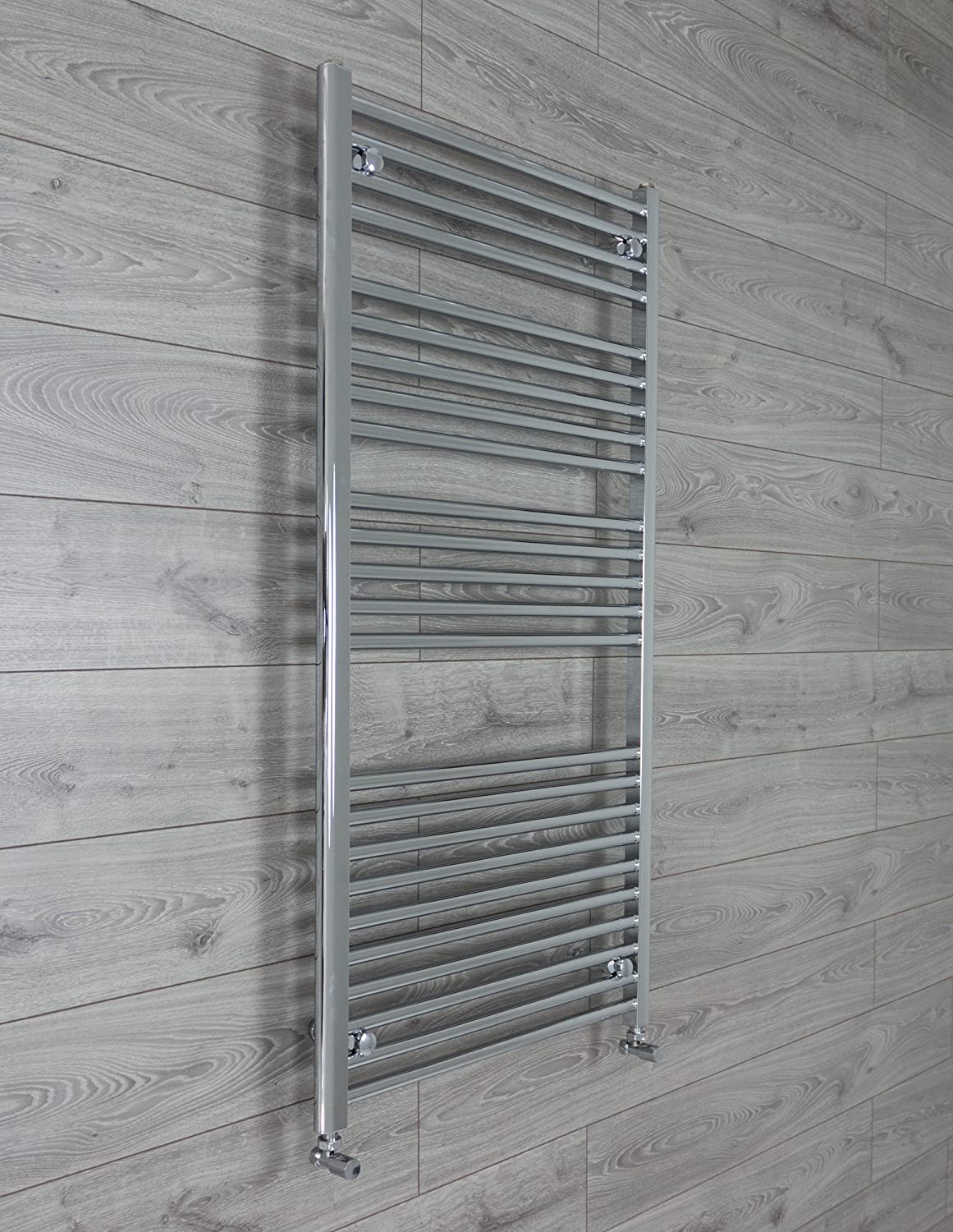 750mm Wide Curved Chrome Heated Towel Rail Radiator Ladder for Stylish Bathroom (750 x 400 mm) CBRAD