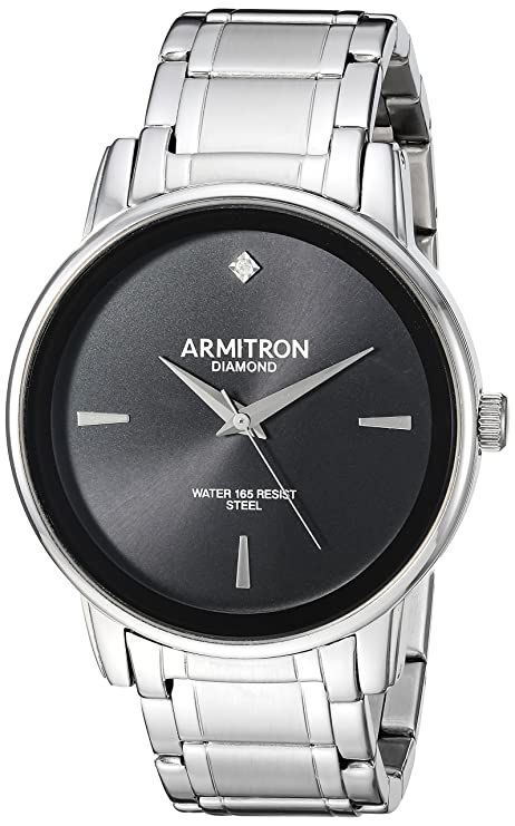 Amazon.com: Armitron Mens 20/5263NVTT Diamond-Accented Two-Tone Bracelet Watch: Watches