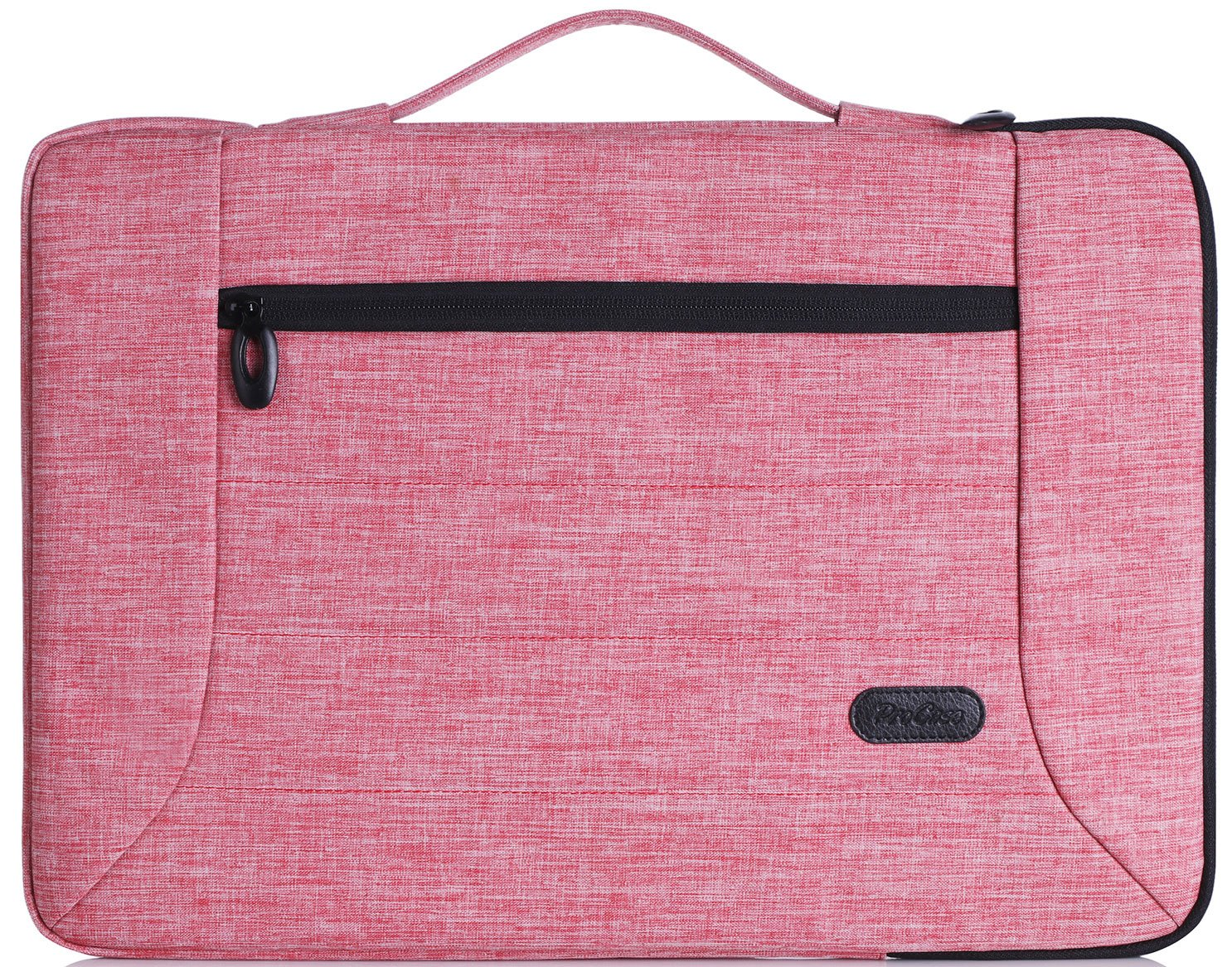 """Procase 13-13.5 Inch Laptop Sleeve Case Cover Bag for MacBook Pro Air, Surface Book, Most 12"""" 13"""" Laptop Ultrabook Notebook MacBook Chromebook -Pink"""