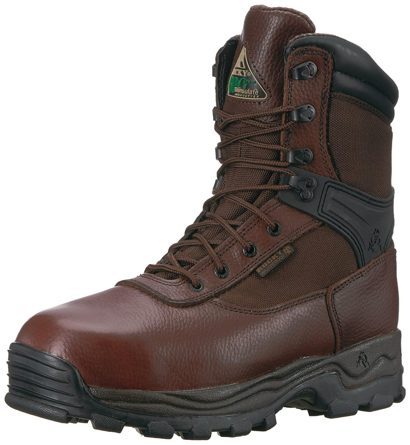 ロッキーMen 's Sport Utility Pro Waterproof Work Boot Steel Toe – fq0006486 B001HQB7XA 13 D(M) US|ダークチョコレート ダークチョコレート 13 D(M) US