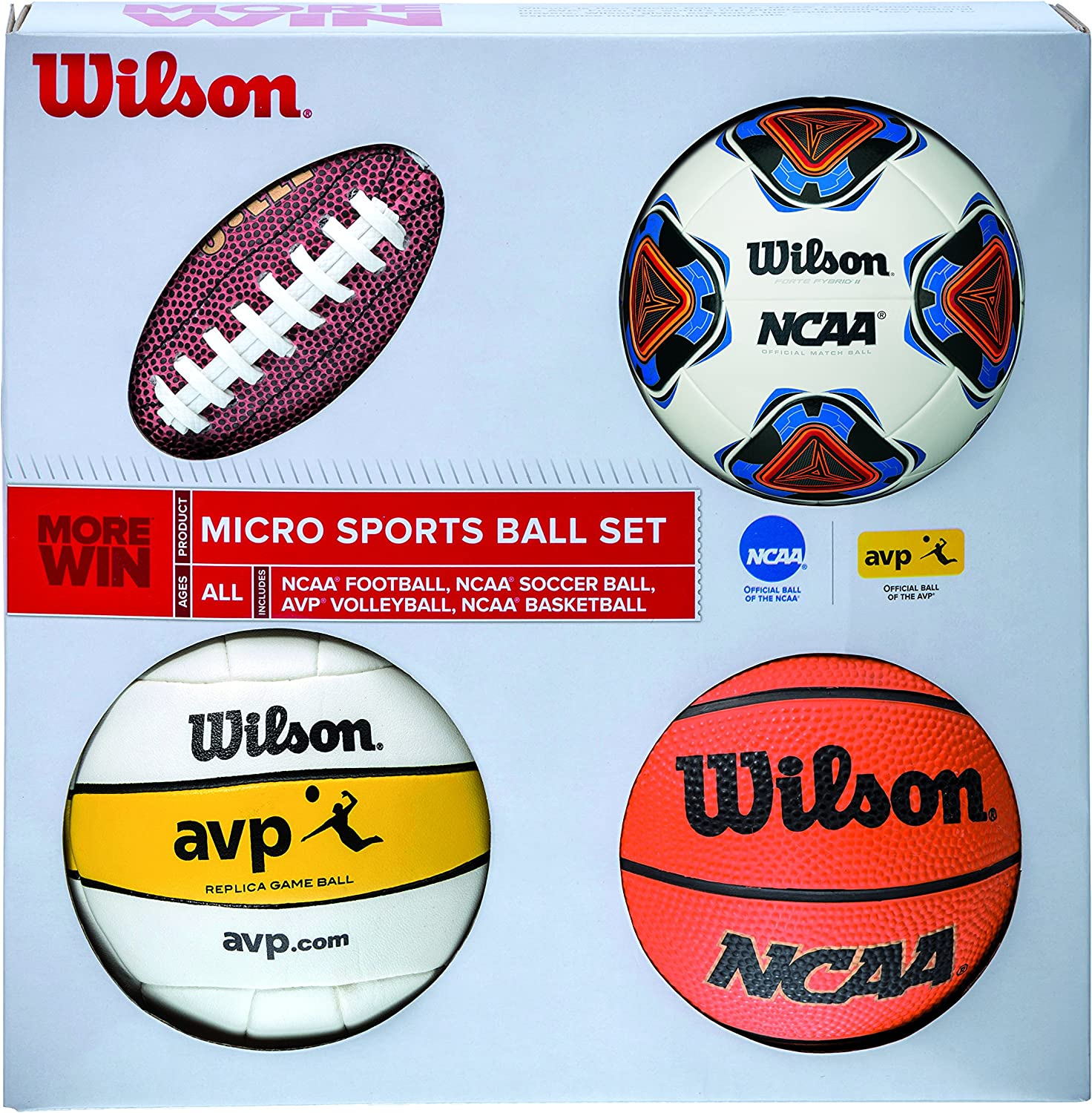 Wilson Micro Sports Set de Mini Pelotas, Unisex, Multicolor, Talla ...