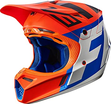 Fox Racing Creo adulto V3 Motocross casco de moto – Naranja