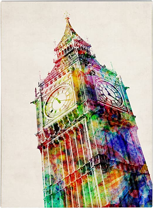 Big Ben over the bridge Canvas wall Art prints high quality great value