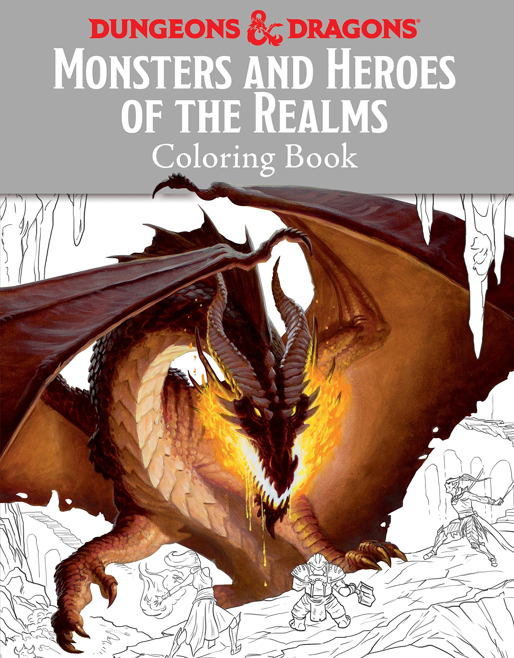 Monsters and Heroes of the Realms: A Dungeons & Dragons Coloring Book (Ologies)