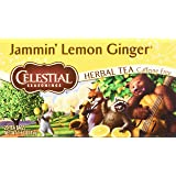 Celestial Seasonings Jammin' Lemon Ginger Herbal Tea, 20 Count