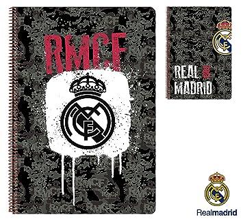 Real Madrid Black Bloc Fº 80hojas tapa dura  Amazon.es  Oficina y ... b56f279e802da