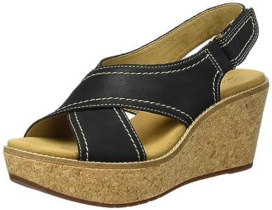 5e411bae12f8 Clarks Women s Aisley Tulip Wedge Heels Sandals Yellow  Amazon.co.uk ...