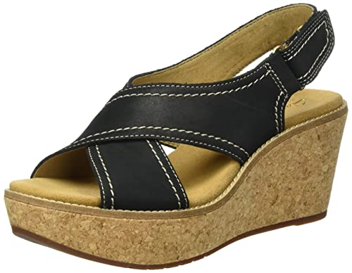 90e4c9829e4 Clarks Women s Aisley Tulip Wedge Heels Sandals  Amazon.co.uk  Shoes ...