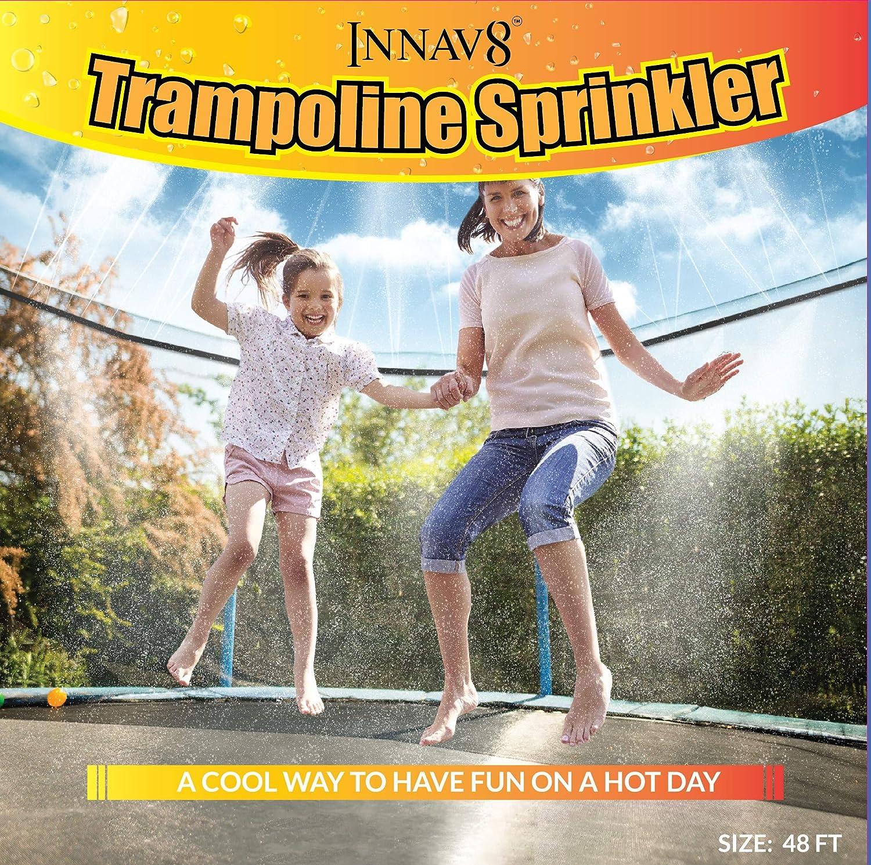 INNAV8 Trampoline Sprinkler Waterpark 48FT Best Outdoor Summer Fun Toys For Kids Outside FULLY ASSEMBLED Trampoline Waterpark Sprinkler Trampoline Water Sprinkler for Trampoline Water Park Games